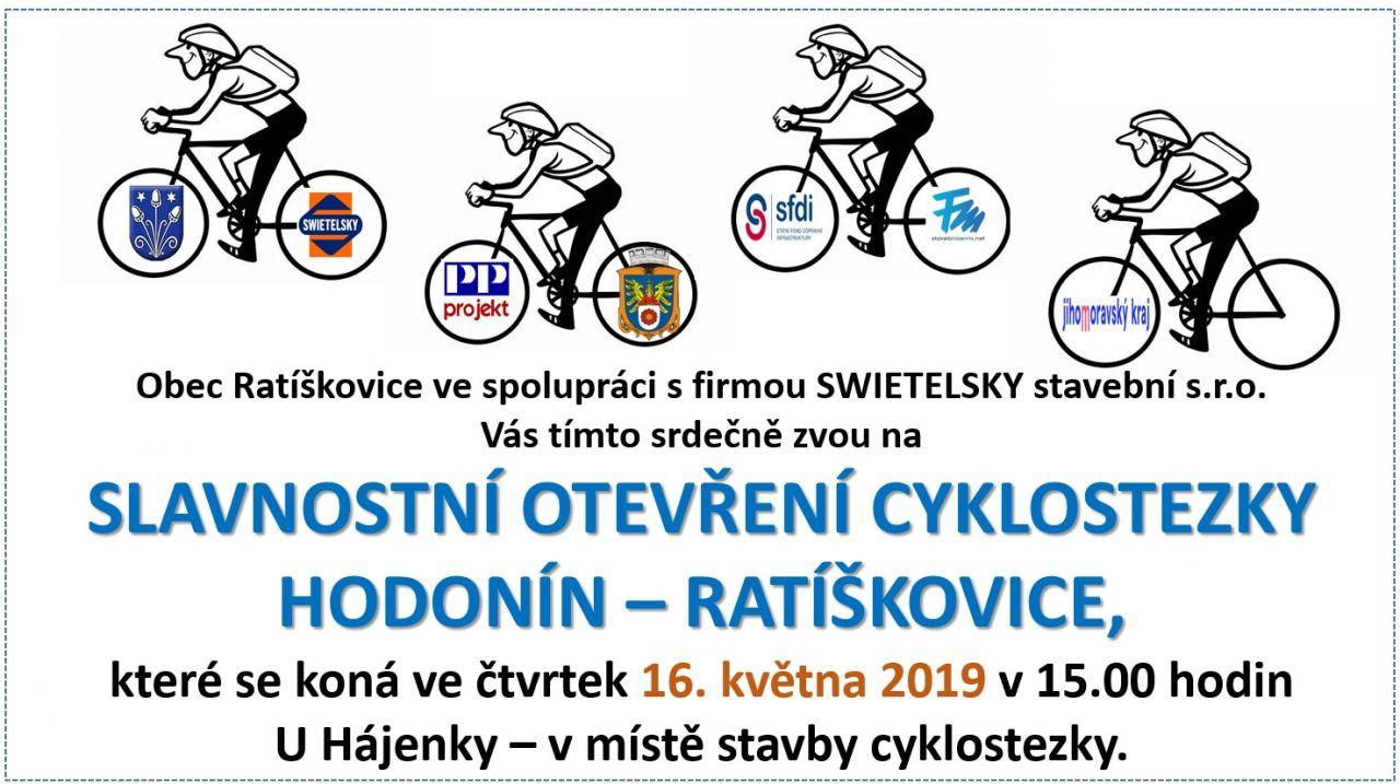 Slavnostní otevření cykostezky HODONÍN - RATÍŠKOVICE 1